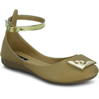 Kielz Girls Beige Round Toe Bellies ]KP-1103-BEIGE