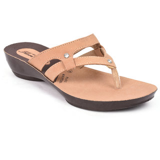 Action Shoes Florina Girlss Beige Flats ]PL-512-BEIGE