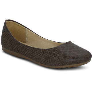 Kielz Girls Brown Round Toe Bellies ]RG-4373-BROWN