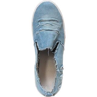 Hansx Girls Blue Slip On Casual Shoes GS-1224BLUE