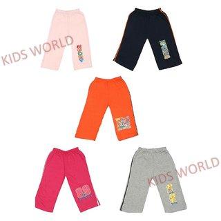 Arohi Kids World's Track Pant Set of 5