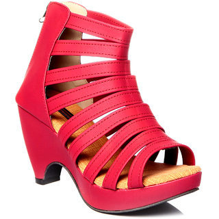Trilokani Classic High Heels ]T1_RED