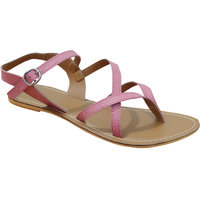 S.L 15006-P Fancy Girls Synthetic Pink Sandals ]15006-P
