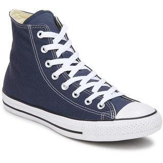 Converse Girlss High Top Blue Canvas Sneakers ]150759C