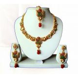 Diva Red Green Necklace - Set 51