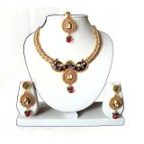 Diva Peacock Golden Antique Necklace - Set 60