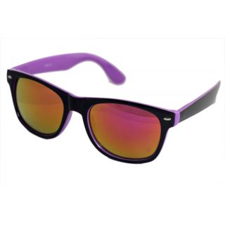 Sunglasses In Wayfarer Style In Dual Shade In Mirror Lenses