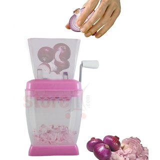 Onion And Vegetable Chopper with Rotating Blade for fine chopping available at ShopClues for Rs.50