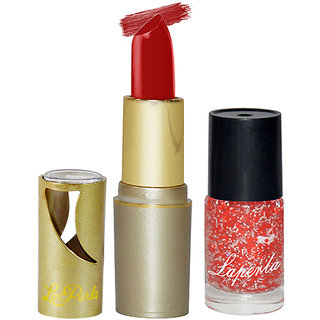 Adbeni Combo Pack Red Lipstick & Laperla Red Nail Polish