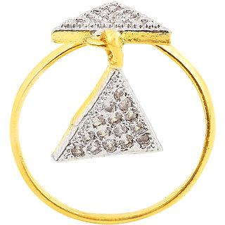 Fasherati CZ Double Triangle Ring for Girls