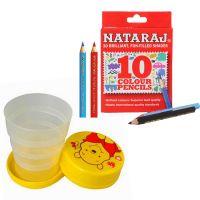 Nataraj Crayons Pencil with Foldable Glass