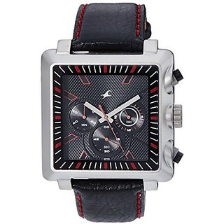Fastrack Chronograph Black Dial Mens Watch - 3111SL01