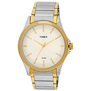 Timex Analog White Round Dial Mens Watch -TW000X104