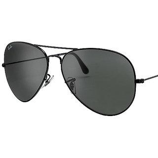 Aviator Sunglasses Black Frame Black Lens