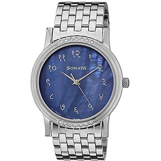 Sonata Analog Blue Dial Mens Watch - 7108TM01
