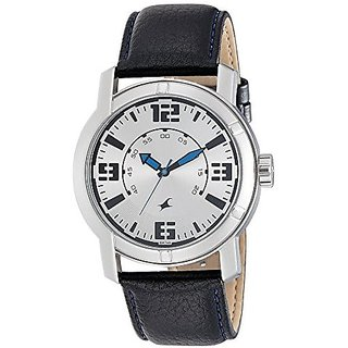 Fastrack Analog White Dial Mens Watch - 3021SL03
