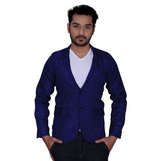 trustedsnap navy blue jute blazer for mens