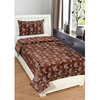 BSB Trendz Single Velvet Bedsheet With 1 Pillow Cover