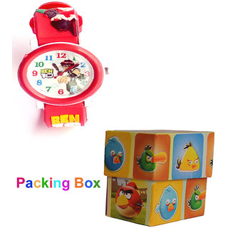 Kids Cartoon Wrist Watch 3D Desgin On Strip
