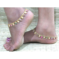 Golden Chain Leaf Layer Anklet