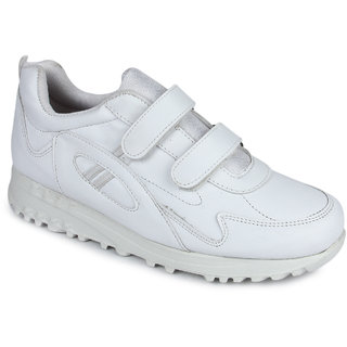 Liberty Force White School Shoes For Boys