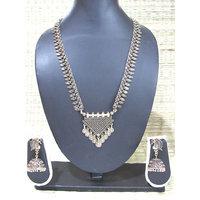 Antique Tringle Pendant Jhumka Necklace Set