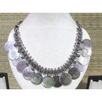 Antique Circle Drop Necklace