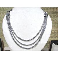 Antique 3 Line Chain Necklace