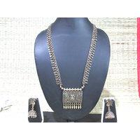 Antique Square Big Pendant Necklace Set
