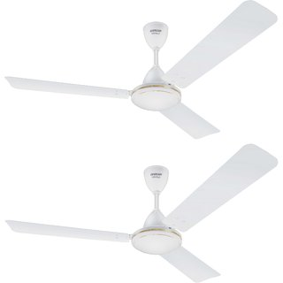 Eveready 1200 VANILO 70W Ceiling Fan White Pack of 2