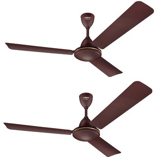 Eveready 1200 VANILO 70W Ceiling Fan Brown Pack of 2