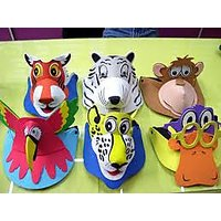 Animal Party Caps (Pack Of 5)