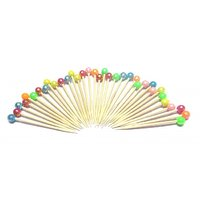 Multicolored Beads Toothpicks (Pack Of 50)