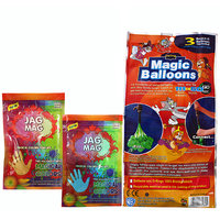 Tom And Jerry Holi Magic Balloon Bunch 111 Pc Auto fill (3 sets of 37 balloons)  With 2 Organic Colour