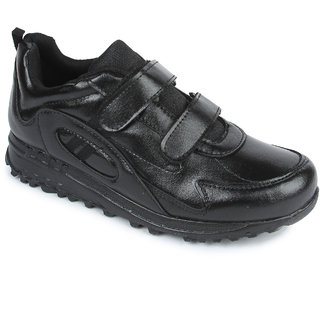 Liberty Force Black School Shoes For Boys