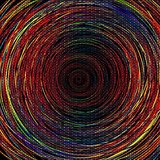 Wall Decor Multi Coloured Abstract Whirpool Design Printed Canvas