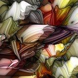 Wall Decor Multi Color Digital Pattern Of Fluids Printed Canvas