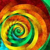 Wall Decor Abstract Multi Colored Circular Staircase Printed Canvas