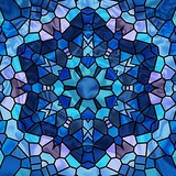 Wall Decor Blue Monchrome Glass Paint Digital Design Printed Canvas