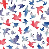 Wall Decor Flock Of Birds Flying High Printed Canvas