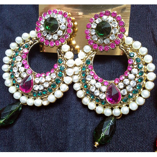 Ethnic Pearl Polki  Fashion And Style Earing