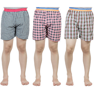 Cotton Checkered Men's Boxer(Pack of 3)