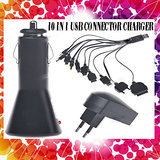 USB 10 in 1 Charger Cable for Mobile iPod & PSP with 10 Connectors