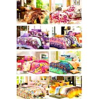 Furnix Super Saver Combo 8 Double Bed Sheet With 16 Pilllow Covers