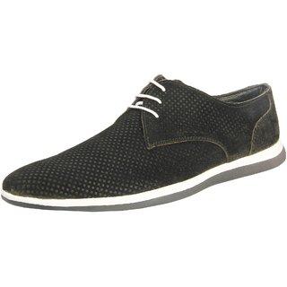 Truman Black Lace Up Suede Leather Men Shoes