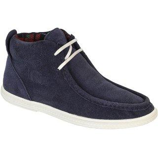 Truman Men's Blue Lace Up Suede Leather Shoes