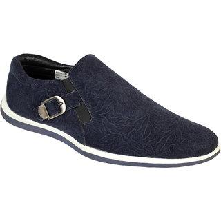 Truman Men's Blue Slip-On Suede Leather Shoes
