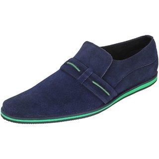 Truman Blue Slip-On Suede Leather Men Shoes
