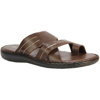 Truman Polished Leather Men Sandal (Brown)