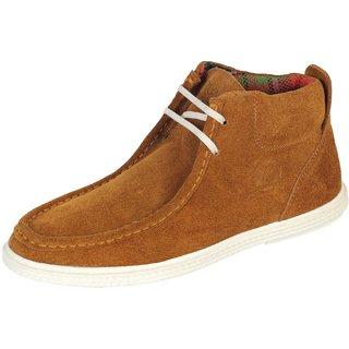 Truman Camel Men's Lace Up Suede Leather Shoes
